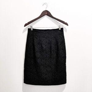 Vintage Casablanca Black Lace Pencil Skirt